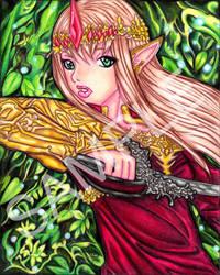 Zelda Gold and Crimson by SugarPopBlossom