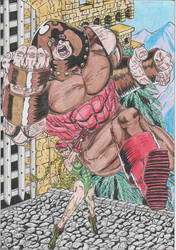 A suplex for Juggernaut by conradknightsocks