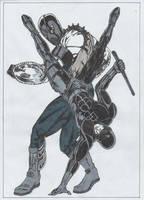 Daredevil versus the Gladiator by conradknightsocks