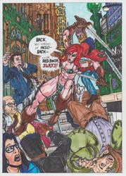 Red Sonja vs Wall Street commuters by conradknightsocks