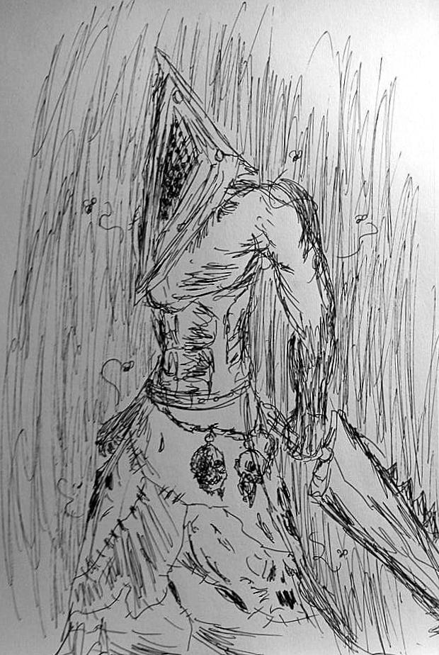 Pyramid Head by zerohollow