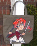 Samurai X Chibi Tote Bag by raccoon-eyes
