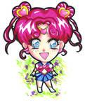Sailor Chibi Chibi Moon by raccoon-eyes