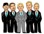 Groomsmen Gift Caricature Commission S by raccoon-eyes