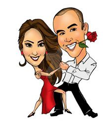 Tango caricature by raccoon-eyes