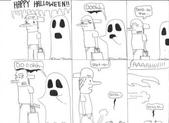 Halloween Comic by timmylosthishead