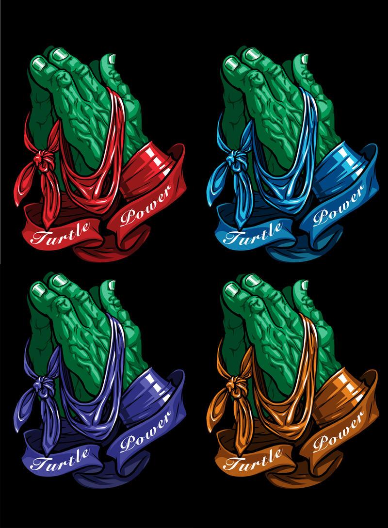 Praying Hands / Ninja Turtle mash up by JonBolerjack
