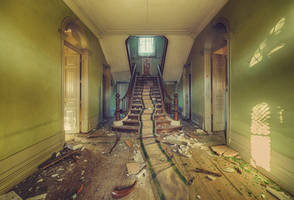 Green Staircase by Dapicture