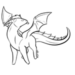 Cute and Simple Dragon Lineart [F2U]