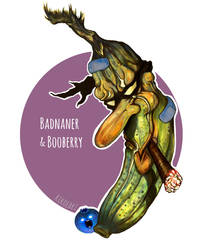 B is for BADNANER AND BOO-BERRY 3.0 by kikoeart