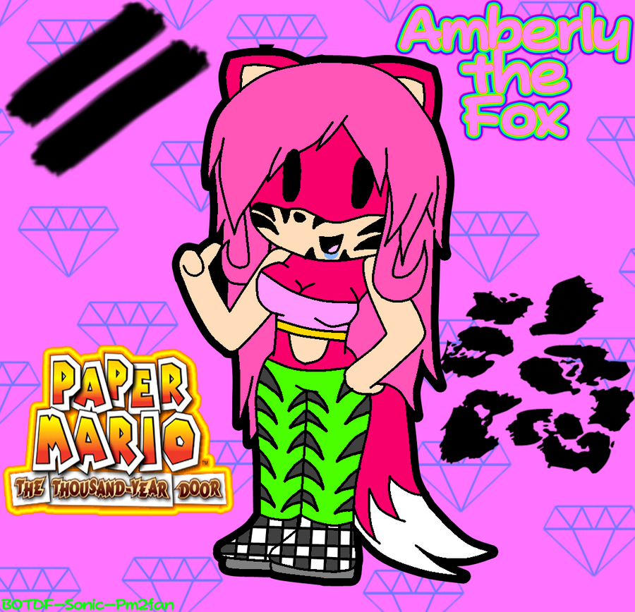 paper amberly the foxy by botdf sonic pm2fan on deviantart. Black Bedroom Furniture Sets. Home Design Ideas