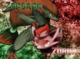 Zorua and Zoroark Wallpaper by NoNamepje