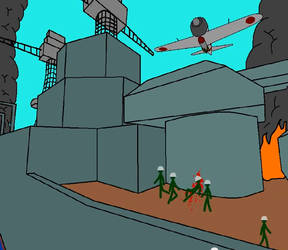 Frame from Attack on Pearl Harbour animation 2 by TheBaz1