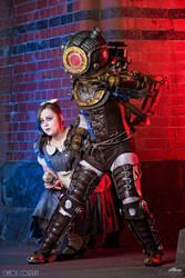 Bioshock Big Sister + Little Sister by Samii-Doll