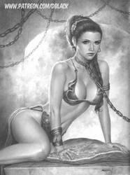 Slave Princess  Leia by deacon-black