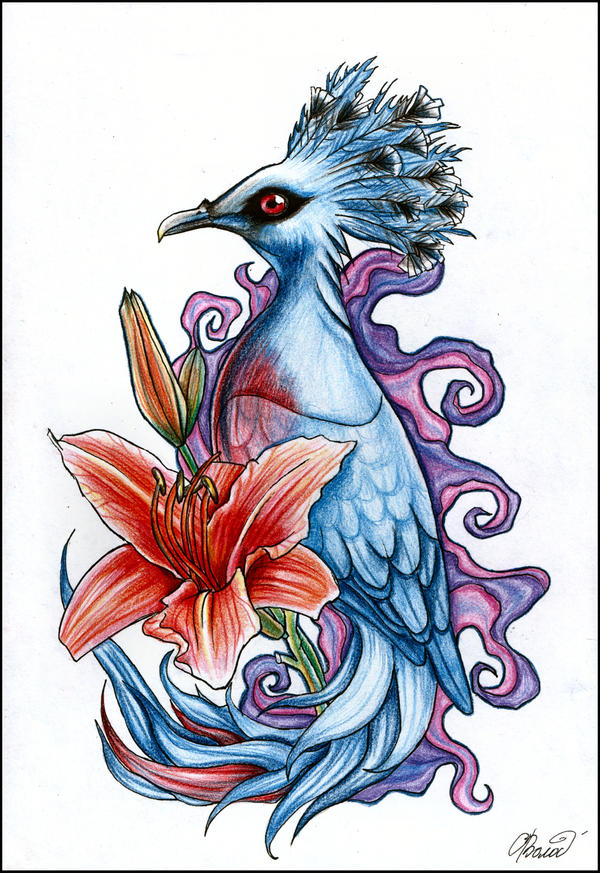 exotic bird tattoo by raynecoldkiss on deviantart. Black Bedroom Furniture Sets. Home Design Ideas