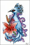 Exotic bird tattoo