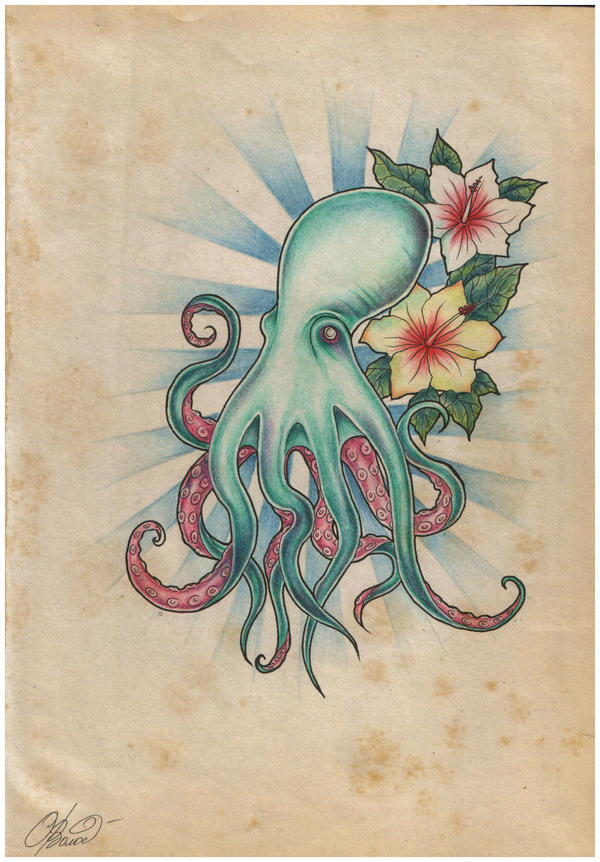 octopus tattoo by raynecoldkiss on deviantart. Black Bedroom Furniture Sets. Home Design Ideas