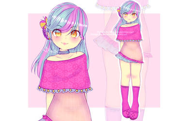 OPEN Blue and pink Adopt 500points