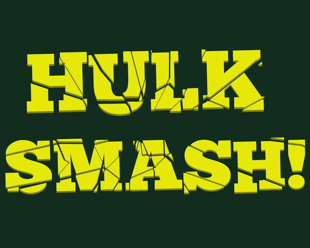 Hulk Smash Text Effect By Cmclean Designs On Deviantart
