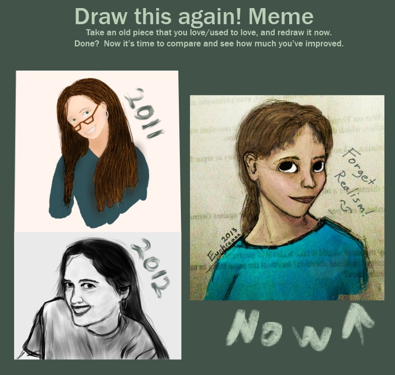 Self portrait progress meme 13 by euphreana