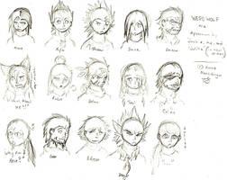 Werewolf characters-sketch