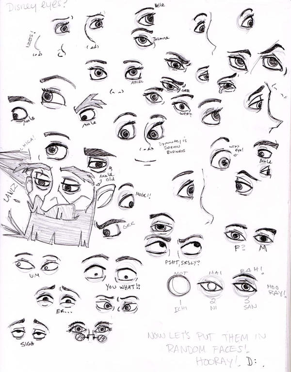 Disney Eyes by paintingmonkey on DeviantArt