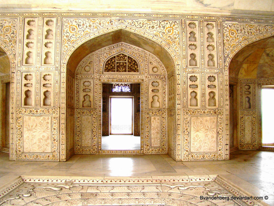 Interior Agra Fort India 2 By Babsartcreations