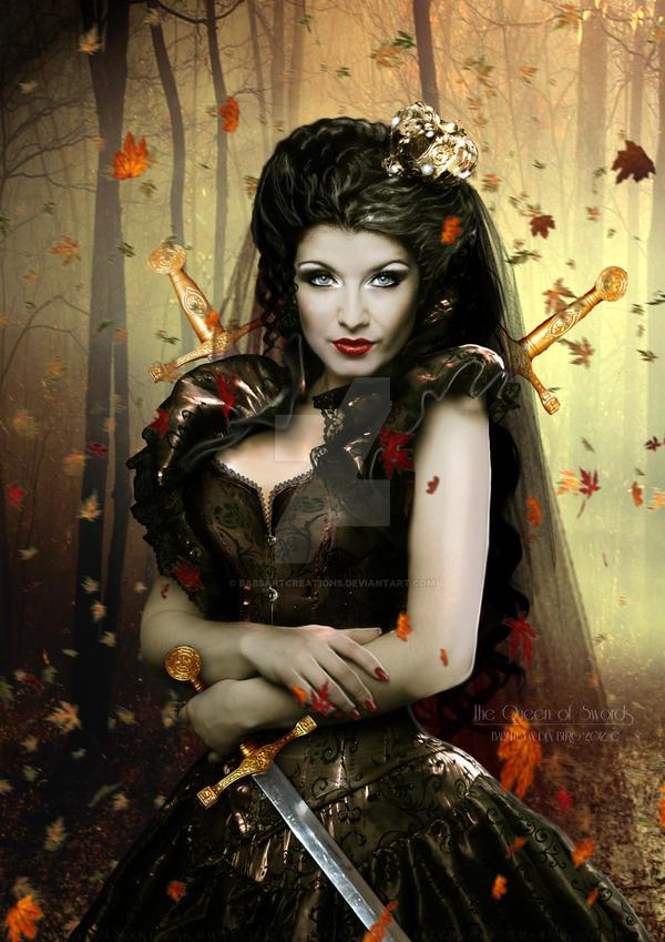 The Queen of Swords by babsartcreations