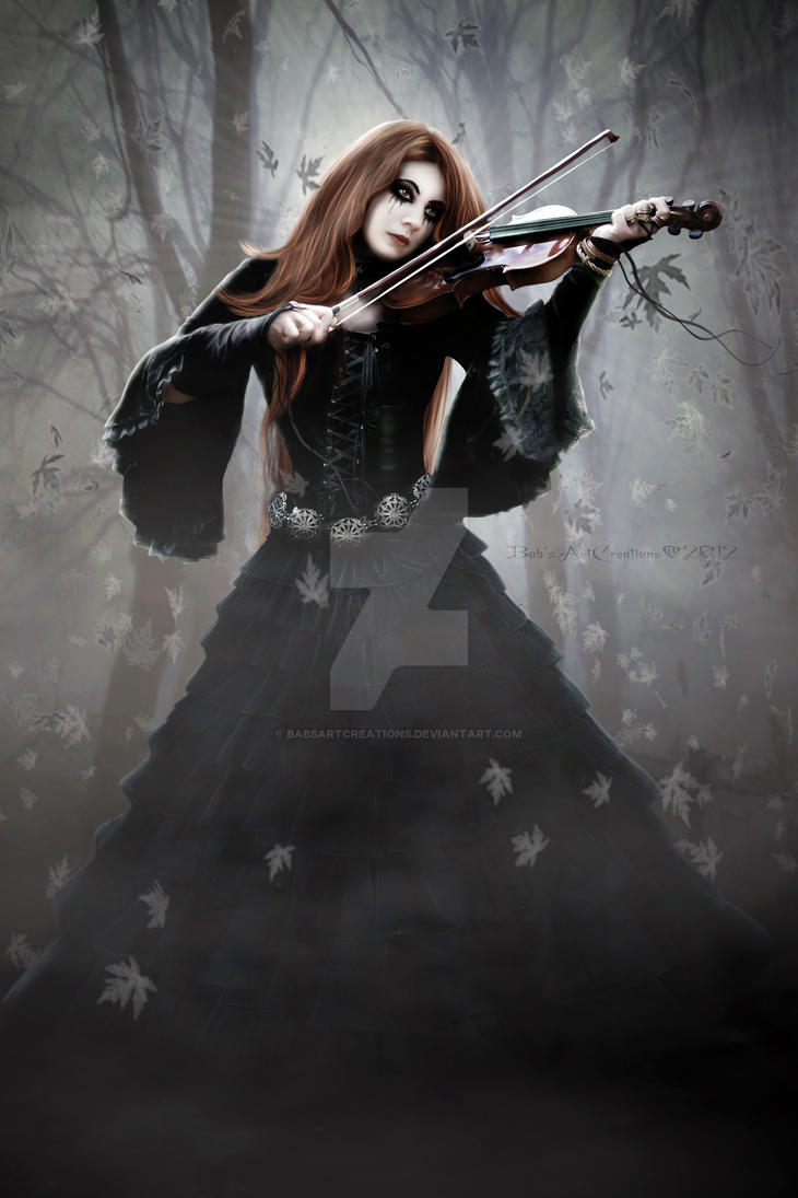 Purple Swirls Border Clip Art – Cliparts Sad Girl With Violin