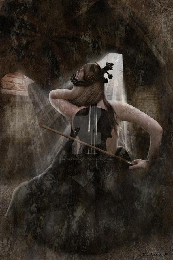 Sad Violin by babsartcreations