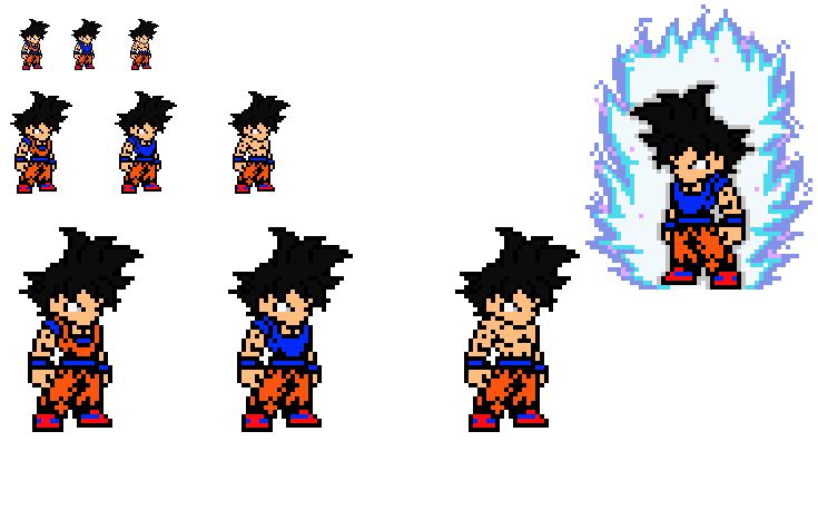 Ultra Instinct Omen Goku Sprite Idea 1 By Hotdanimus On