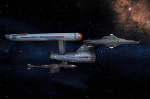 Restored Starship Enterprise Model and Botany Bay by Cannikin1701