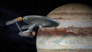Restored Starship Enterprise Model at Jupiter by Cannikin1701