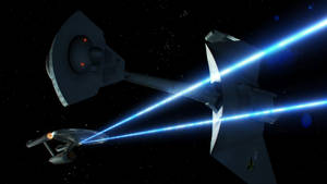 Enterprise and D7 by Cannikin1701