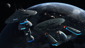 Enterprise D Docking at a Starbase