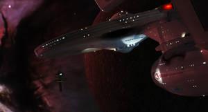 Enterprise arrives at Regula One 4k by Cannikin1701