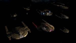 Battle at the Binary Stars Fleet