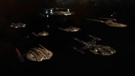 Battle-of-the-Binary-Stars Fleet by Cannikin1701