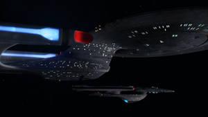 Enterprise D and Excelsior