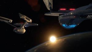 Enterprise A and Excelsior