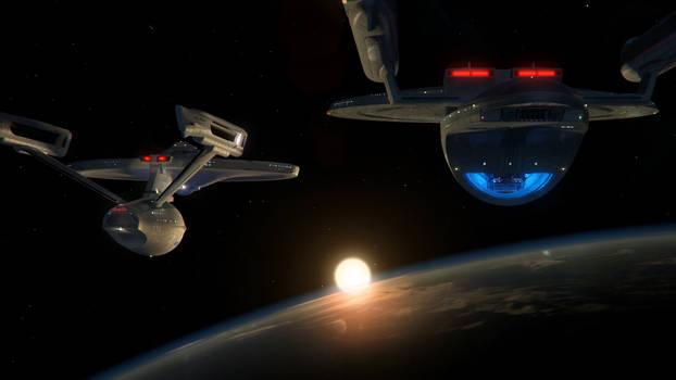 Enterprise A and Excelsior v2