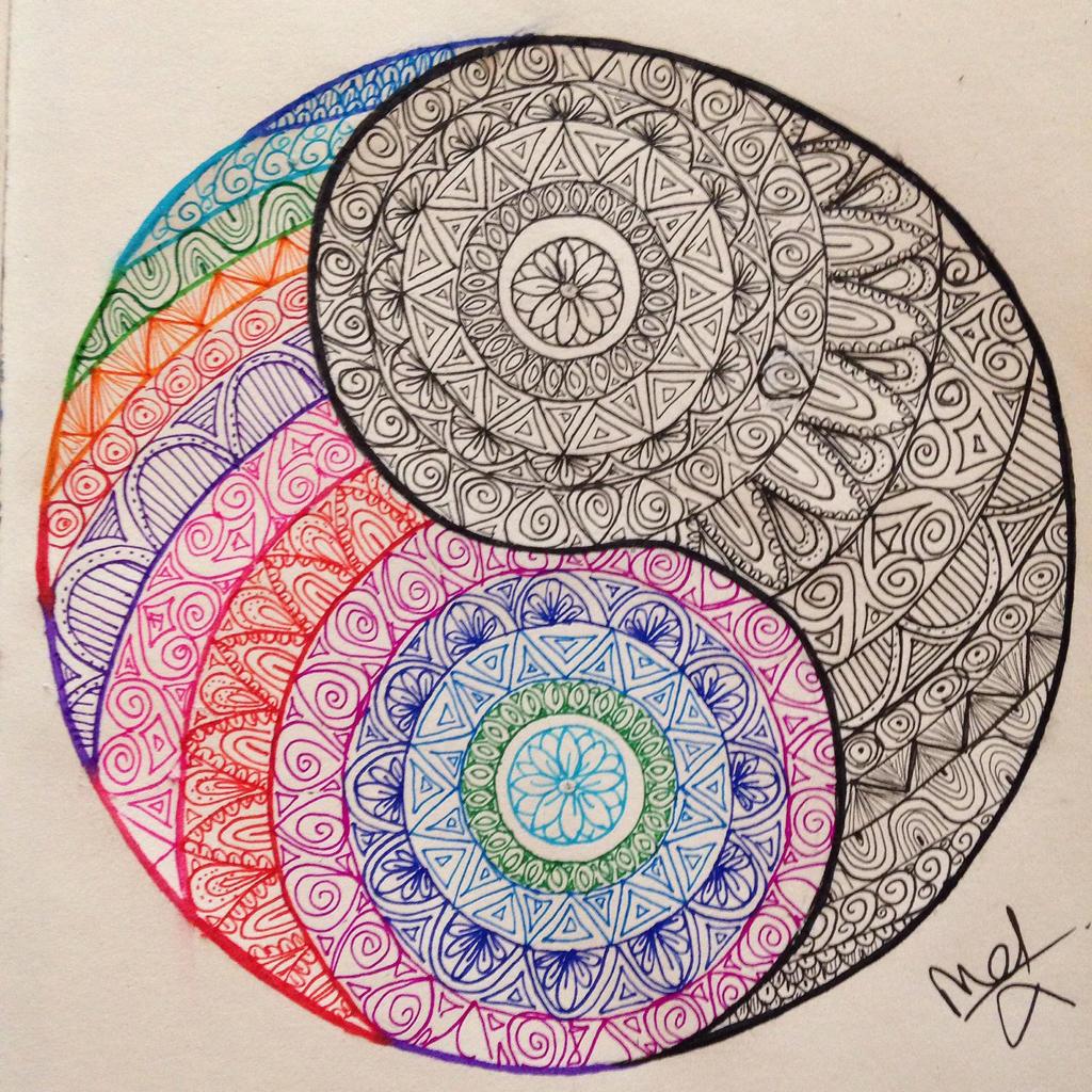 yin yang doodle by madebymelw on deviantart
