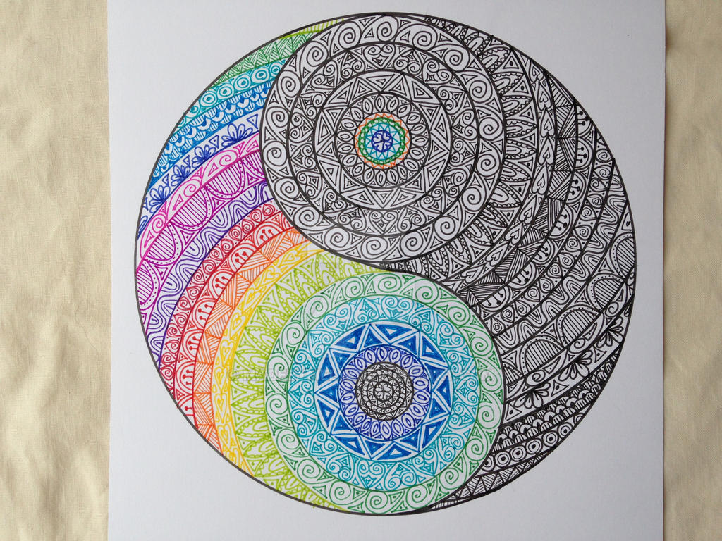 yin yang colour and ink by madebymelw on deviantart