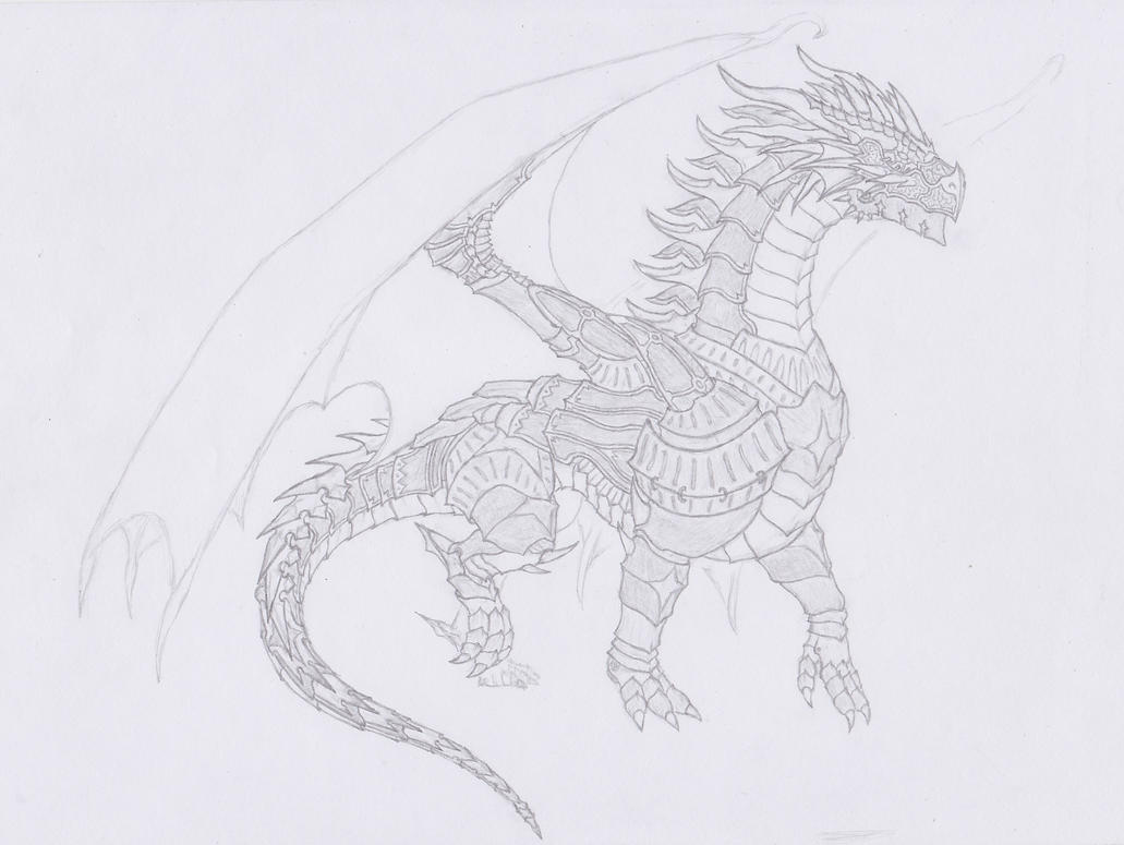Armored dragon by User96 on DeviantArt