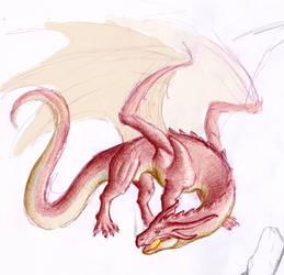 Pen dragon sketch by User96