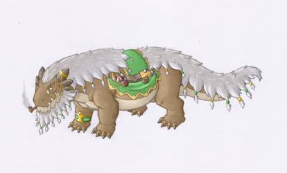 Wandering merchant dragon by User96