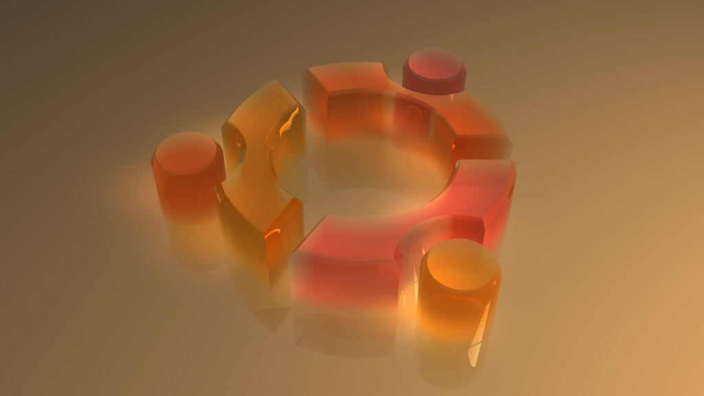 Ubuntu logo (3D glass) by Miffyli on DeviantArt