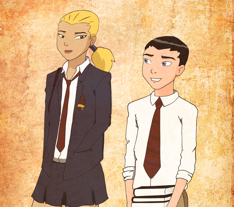 Robin x Artemis School - Alternate Version by Utsukushii-Kohana