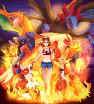 Fire/Dragon Gym Leader Team! [comm]